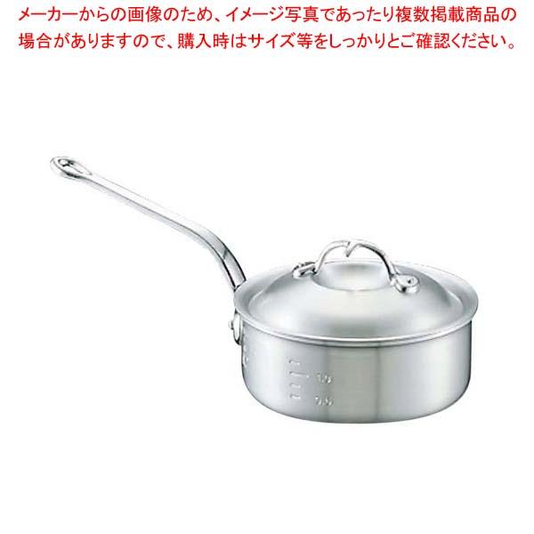アルミ ニューキング 浅型 片手鍋(目盛付)33cm【 アルミ片手鍋 片手鍋 アルミ 業務用 】