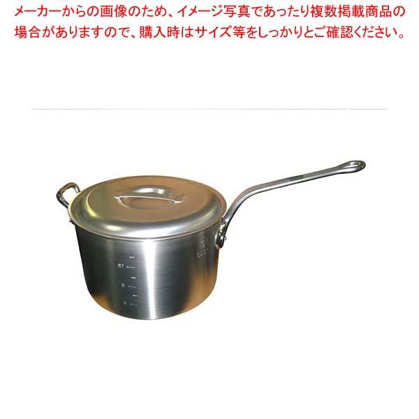【まとめ買い10個セット品】 アルミ キング 深型 片手鍋(目盛付)33cm【 アルミ片手鍋 片手鍋 アルミ 業務用 】