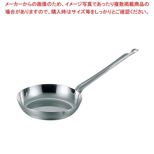 【まとめ買い10個セット品】 MA ステンレス 平柄 フライパン 24cm【 フライパン 】