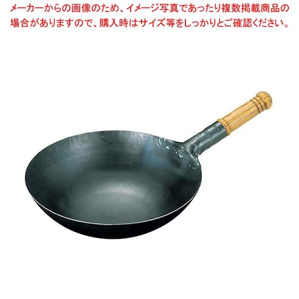 【まとめ買い10個セット品】 山田 鉄 打出木柄 中華片手鍋 33cm【 鍋全般 】