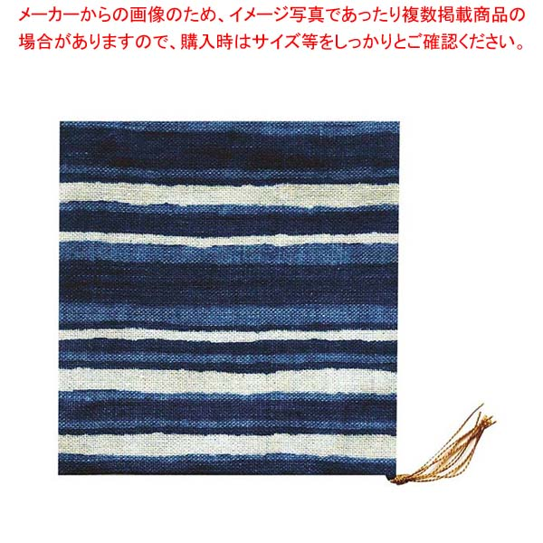 【まとめ買い10個セット品】 和風コースター(10枚入)B0048 藍染め 京縞【 ワイン・バー用品 】