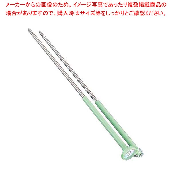 【まとめ買い10個セット品】 ステンレス 温度計付 揚箸 天ぷらメーター 35cm TS-103