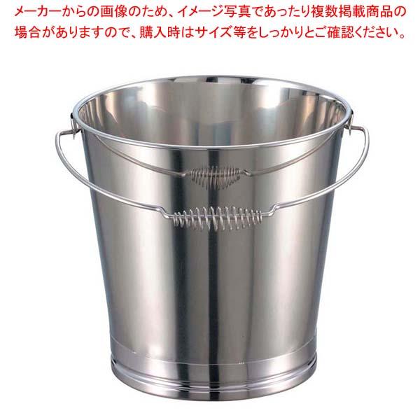 【まとめ買い10個セット品】 EBM 18-8 溶接 バケツ 15L