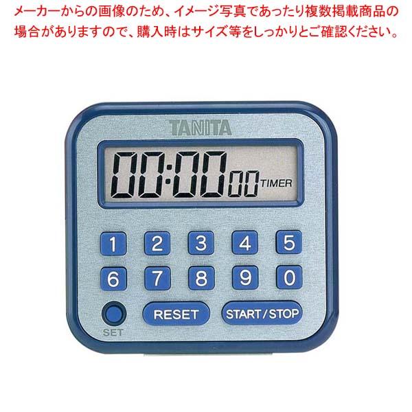 ブルー【 タイマー 100時間計 】 タニタ デジタルタイマー TD-375-BL 【まとめ買い10個セット品】