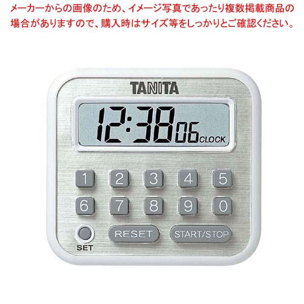 【まとめ買い10個セット品】 タニタ デジタルタイマー 100時間計 TD-375-WH ホワイト