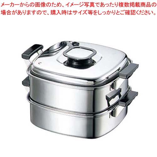 モモ 18-0 プレス 角蒸器 2段 29cm【 すし・蒸し器・セイロ類 】
