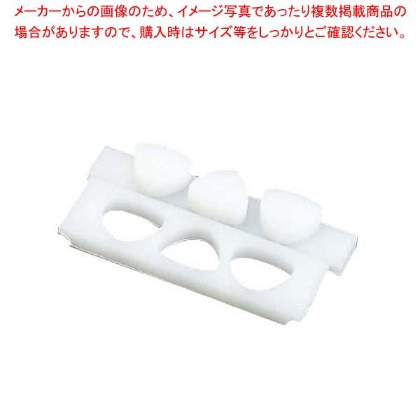 【まとめ買い10個セット品】 PE おにぎり型 押し蓋付(B)関東型 6穴 小【 おにぎり型・ライス型・押し寿司型 】