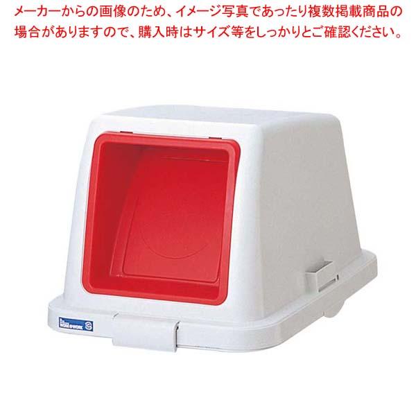 【まとめ買い10個セット品】 カラー分類ボックス70L フタ プッシュ用 レッド【 清掃・衛生用品 】