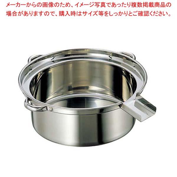 江部松商事 / EBM 18-8 ゆで麺鍋 大(φ500×H185)Cタイプ【 うどん・そば・ラーメン 】