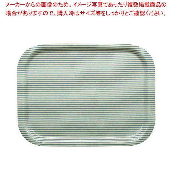 【まとめ買い10個セット品】 Rトレー S ストライプブルー【 カフェ・サービス用品・トレー 】
