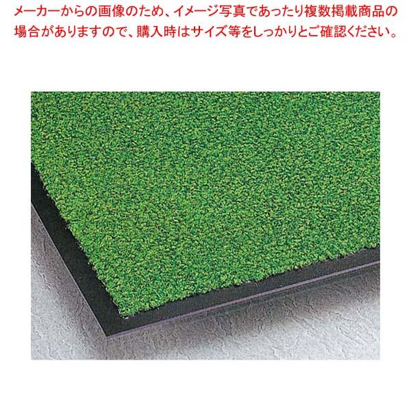 【まとめ買い10個セット品】 玄関マット ニュートレビアン裏地付 中(750×450)緑 MR0342201