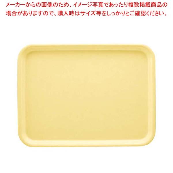 【まとめ買い10個セット品】 長角トレイ AP-440-PY パステルイエロー FRP