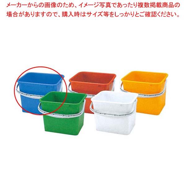 【まとめ買い10個セット品】 PP 角型 バケツ WP-150B(青)【 清掃・衛生用品 】