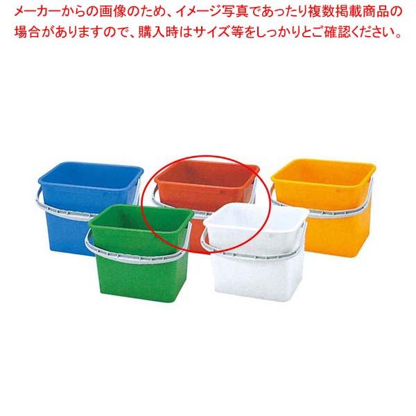 【まとめ買い10個セット品】 PP 角型 バケツ WP-150R(赤)【 清掃・衛生用品 】