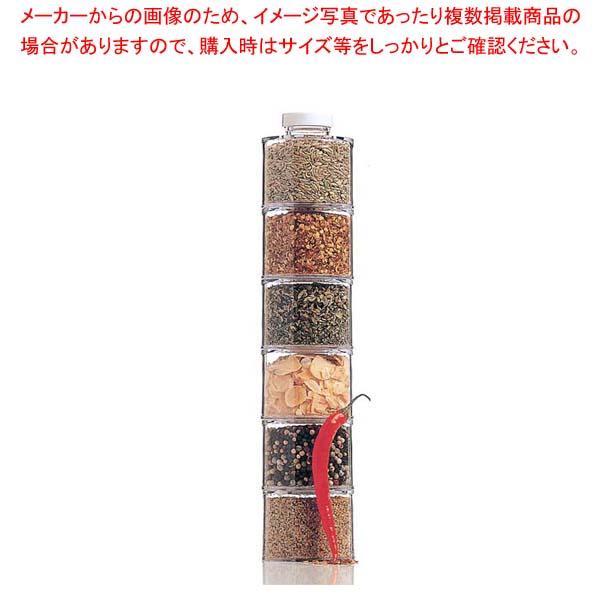 【まとめ買い10個セット品】 スタッキング アクリルスパイスボトル(6個セット)ST-606