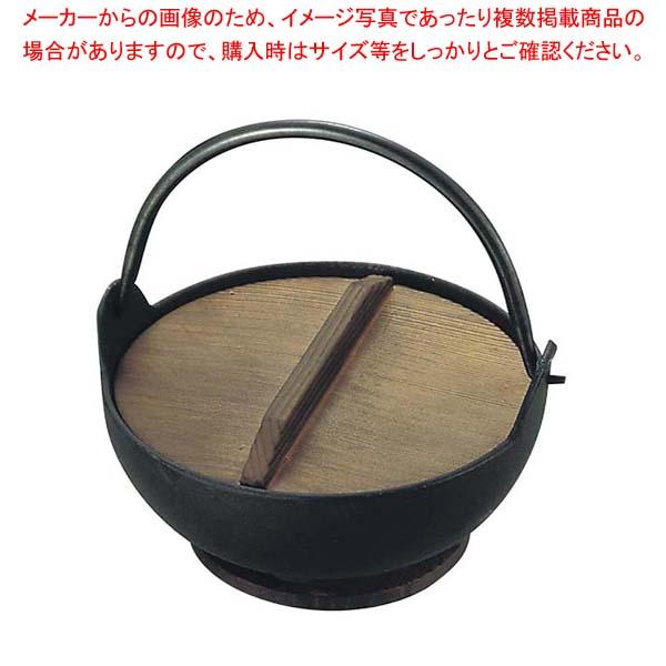 【まとめ買い10個セット品】 トキワ 鉄 やまが鍋 413 16cm 黒塗り 敷台付【 卓上鍋・焼物用品 】