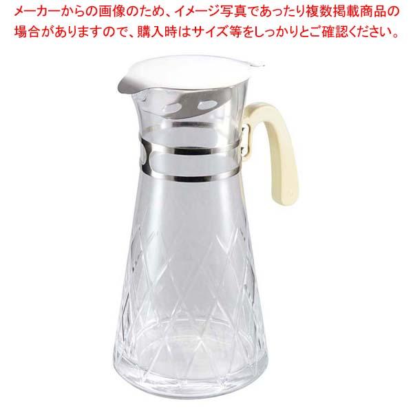 【まとめ買い10個セット品】 ガラス ウォータージョッキ 氷止め付 小【 カフェ・サービス用品・トレー 】