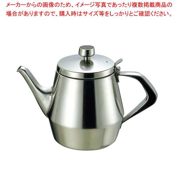 【まとめ買い10個セット品】 K 18-8 エルム ティーポット 8人用【 カフェ・サービス用品・トレー 】