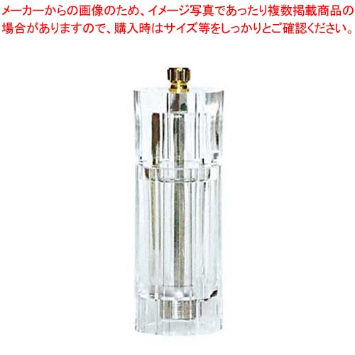 【まとめ買い10個セット品】 IKEDA アクリル ペパーミル(円筒型)APM-150【 ペパーミル 業務用 胡椒挽き 胡椒挽き 】