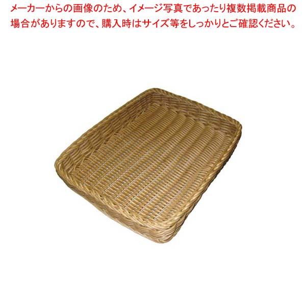 【まとめ買い10個セット品】 ザリーン社 PP製 フラットバスケット L ベージュ 557041