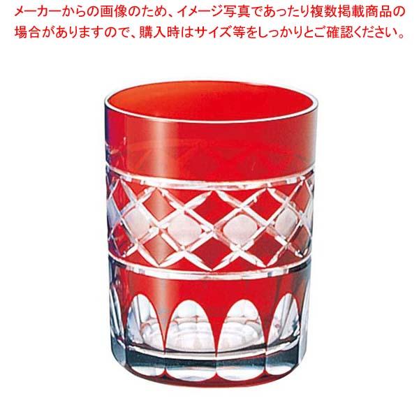 【まとめ買い10個セット品】 江戸切子 倉敷・オールド 赤 97-871-9