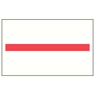【まとめ買い10個セット品】 ハンドラベラーunoPROMO用ラベル赤一本線 強粘(1000枚)×10組