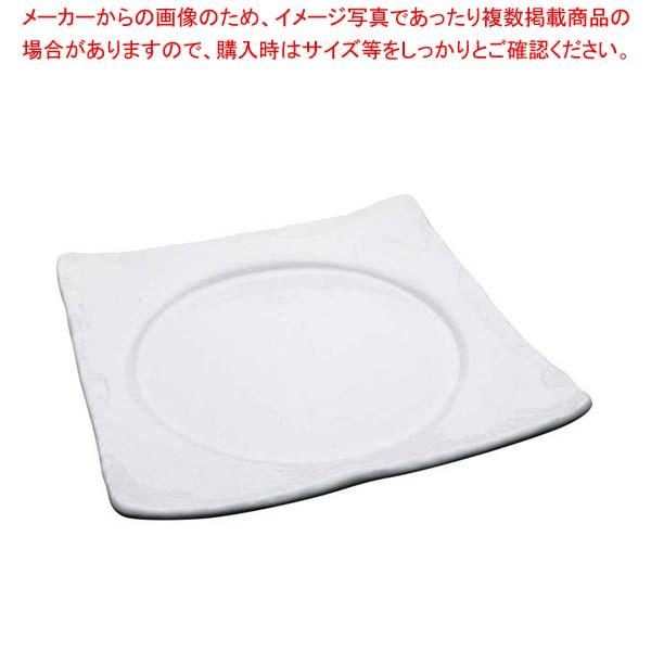 【まとめ買い10個セット品】 アルセラム 白変形 石目角丸皿 EC12-39