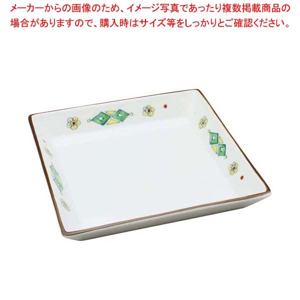 【まとめ買い10個セット品】 アルセラム強化食器 錦菱紋四角皿 B9-62