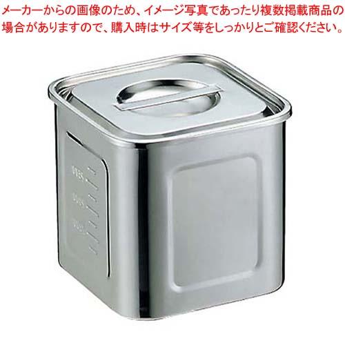 【まとめ買い10個セット品】 EBM モリブデン 角型キッチンポット 目盛付 16.5cm【 ストックポット・保存容器 】