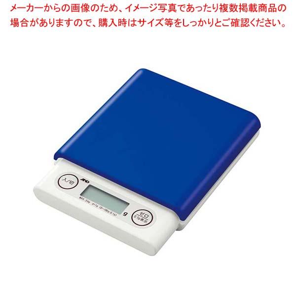【まとめ買い10個セット品】 A&D ホームスケール3kg UH3201 ブルー【 クッキングスケール 業務用クッキングスケール 計量器 秤 はかり 】
