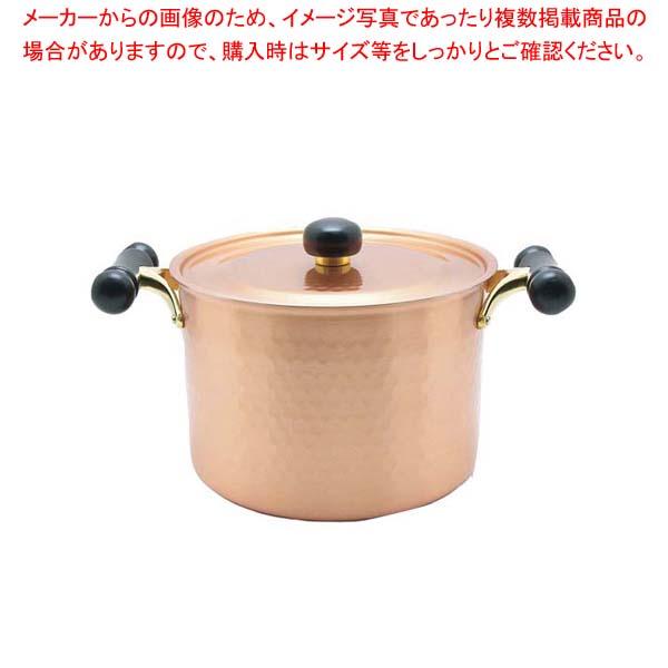 【まとめ買い10個セット品】 銅IHアンティック 深型鍋 IH-103 22cm【 鍋全般 】