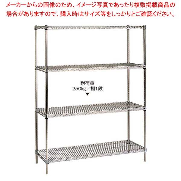 18-8 ステンレスエレクターシェルフ 4段 PS1900×SMS1220【 棚・作業台 】