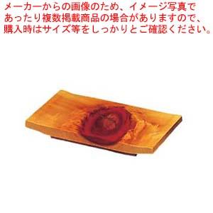 【まとめ買い10個セット品】 ひのき 紅節 盛皿 8寸 大 240×150×H30【 和・洋・中 食器 】