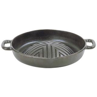 【まとめ買い10個セット品】 五進 新深型 ジンギスカン鍋 30cm 鉄製(Y-12)