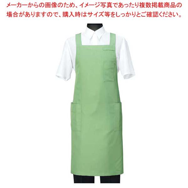 【まとめ買い10個セット品】 エプロン CT2566-4 グリーン L【 ユニフォーム 】