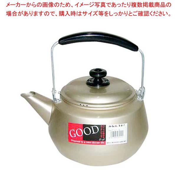 【まとめ買い10個セット品】 アルマイト GOODケットル 4L