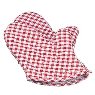 【まとめ買い10個セット品】 ギンガム オーブンミット(2枚1組)赤 小(260)OM-1【 ミトン 耐熱性手袋 キッチングローブ 耐熱手袋 オーブンミトン 耐熱ミトン  】