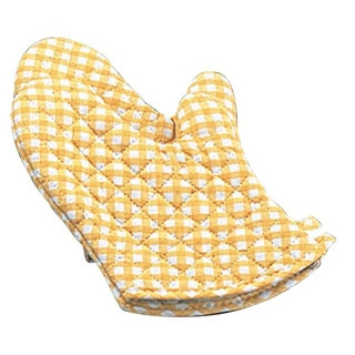 【まとめ買い10個セット品】 ギンガム オーブンミット(2枚1組)黄 小(260)OM-1【 ミトン 耐熱性手袋 キッチングローブ 耐熱手袋 オーブンミトン 耐熱ミトン  】