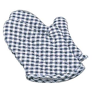 【まとめ買い10個セット品】 ギンガム オーブンミット(2枚1組)青 小(260)OM-1【 ミトン 耐熱性手袋 キッチングローブ 耐熱手袋 オーブンミトン 耐熱ミトン  】