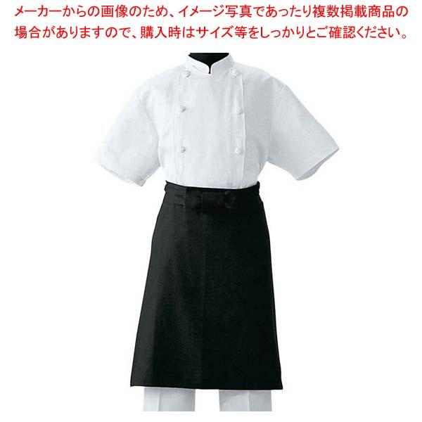 【まとめ買い10個セット品】 調理前掛 JT4551-9 ブラック M【 ユニフォーム 】