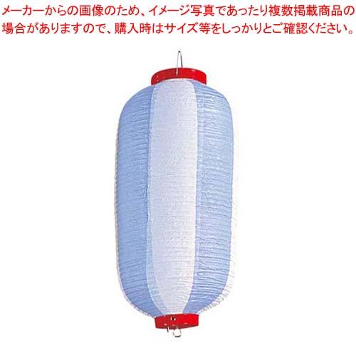 【まとめ買い10個セット品】 長 ビニール提灯 9号 青/白