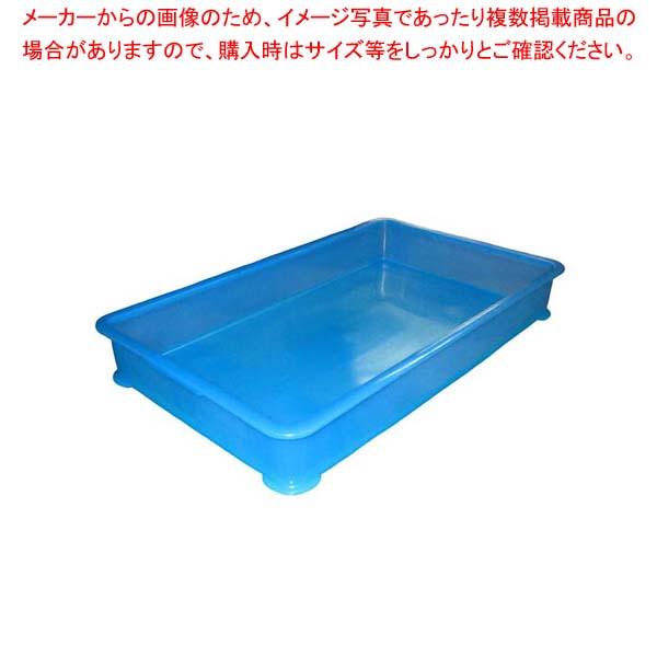 【まとめ買い10個セット品】 EBM PP半透明カラー番重 B型 特大 ブルー(サンコー製)【 運搬・ケータリング 】