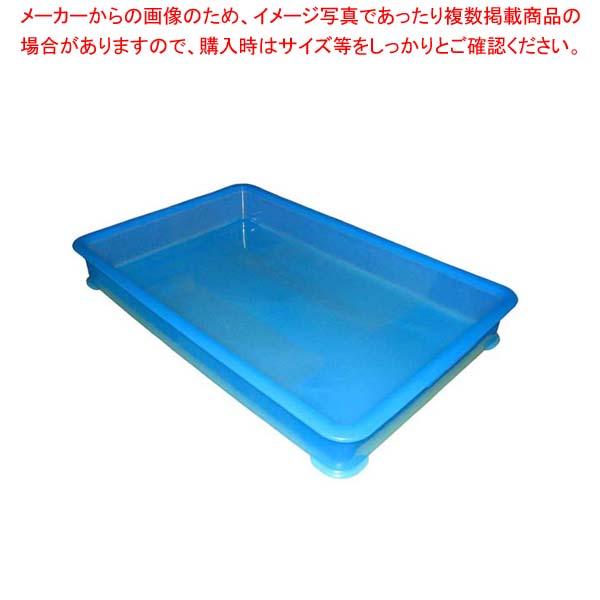 【まとめ買い10個セット品】 EBM PP半透明カラー番重 B型 大 ブルー(サンコー製)【 運搬・ケータリング 】