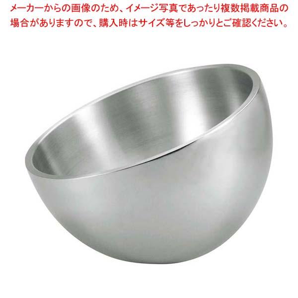 ステンレス 2重サラダボール アングル 47652 3.5L【 ビュッフェ関連 】