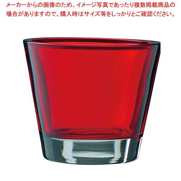 【まとめ買い10個セット品】 キャンドルホルダー カラリス レッド(6ヶ入)