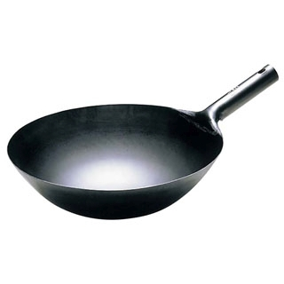 チタン 打出 中華 片手鍋 36cm【 チタン製 中華鍋 フライパン 業務用中華鍋 】