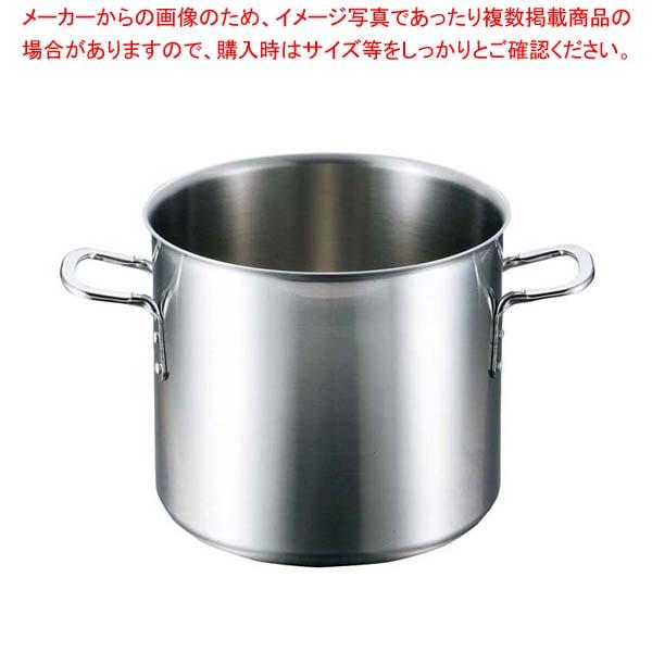 【まとめ買い10個セット品】 EBM ビストロ 三層クラッド 寸胴鍋 27cm 蓋無【 IH・ガス兼用鍋 】