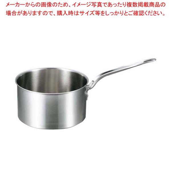 【まとめ買い10個セット品】 EBM ビストロ 三層クラッド 深型片手鍋 24cm 蓋無【 片手鍋 業務用 】