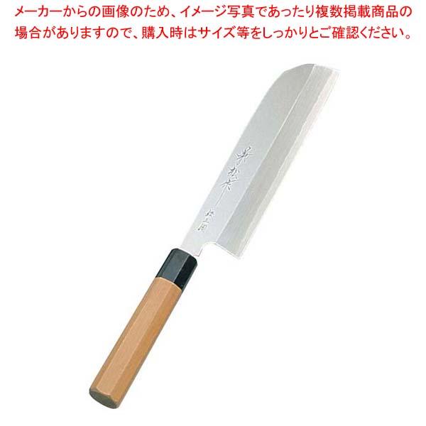 兼松作 銀三鋼 鎌型薄刃庖丁 21cm sale