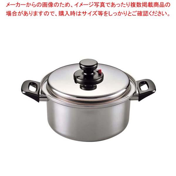 【まとめ買い10個セット品】 18-10(電磁対応)エクストラ 深型両手鍋 24cm【 鍋全般 】